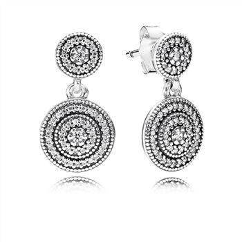 Pandora Radiant Elegance Drop Earrings, Clear CZ 290688CZ