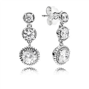 Pandora Eternal Elegance Drop Earrings, Clear CZ 290742CZ