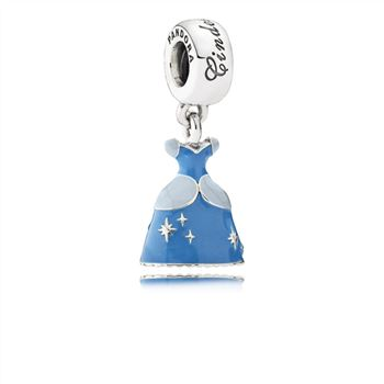 Pandora Disney, Cinderella's Dress Dangle Charm, Mixed Enamel 79