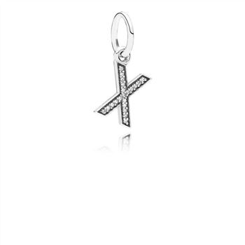 Pandora Letter X Dangle Charm, Clear CZ 791336CZ