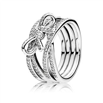 Pandora Delicate Sentiments Ring, Clear CZ 190995CZ