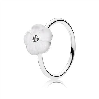 Pandora Luminous Florals Ring, Mother-Of-Pearl & Clear CZ 190999