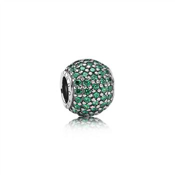 Pandora Pave Lights Charm, Dark Green CZ 791051CZN