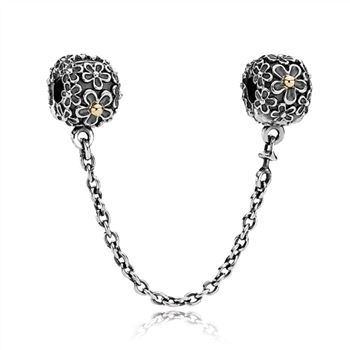Two-toned Floral Safety Chain - PANDORA 790864