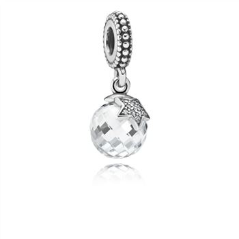 Light of the Moon Zirconia & Silver Hanging Charm - PANDORA 7913