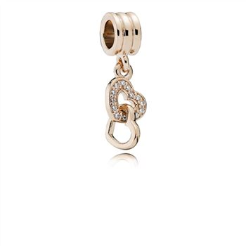 Pandora Interlocking Love Dangle Charm, PANDORA Rose & CZ 781242